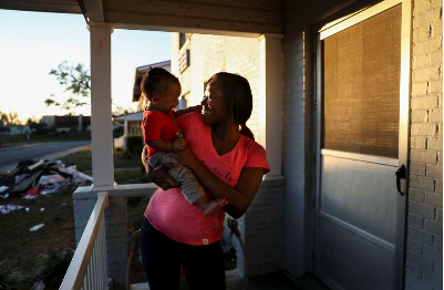 'We're not going back to normal.' They rode out Hurricane Michael, but were left without homes.