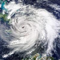 Satellite view. Hurricane Matthew Hits Haiti. Elements of this image furnished by NASA.