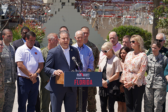 CFO Jimmy Patronis Joins Senator Rick Scott at Tyndall Air Force Base to Demand Immediate Congressional Funding for Hurricane Michael Recovery