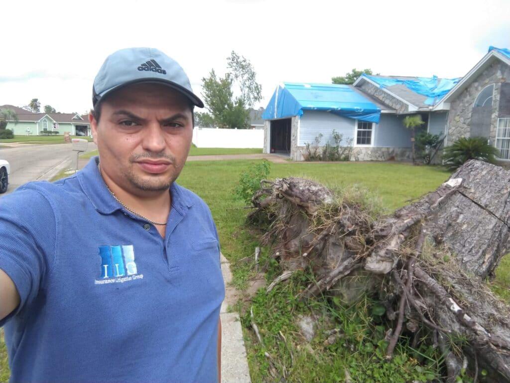 Roof damage with Marat